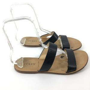 J. Crew 8 Made In Italy Black Sandals